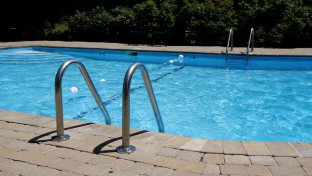 Swimming pool and ladder. video