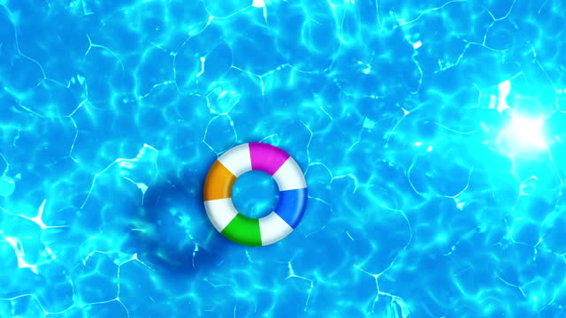 Swimming pool top view, Water Surface CG animation, video