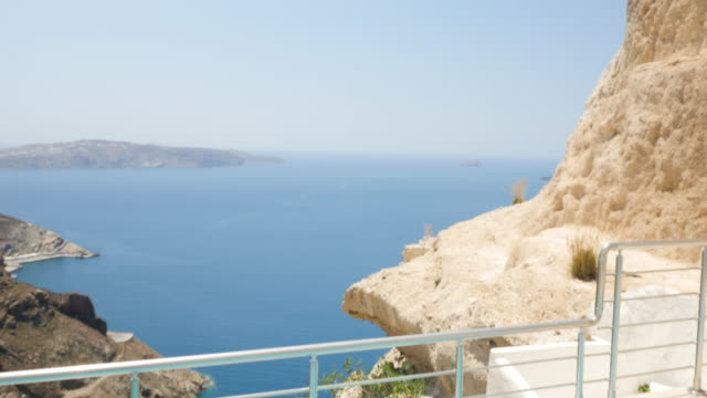Swimming pool & view on Aegean seascape video