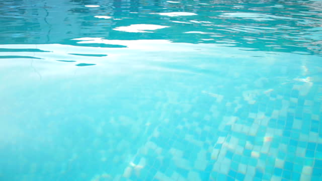Swimming pool water surface video