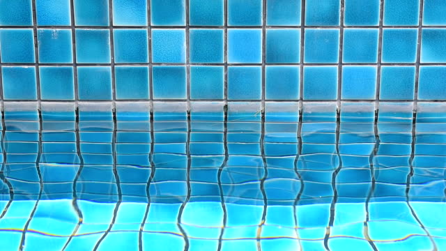 swimming pool with ripple water blue swimming pool with ripple water caustic light effect stock videos & royalty-free footage