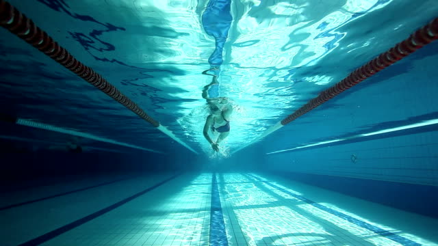 Swimming training - front crawl technique HD1080p: Freestyle technique training in the swimming pool swimming stock videos & royalty-free footage