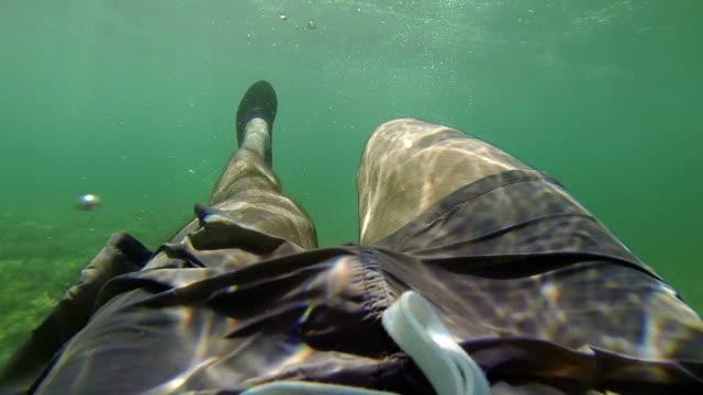 Swimming underwater in Oman in a remote beach video