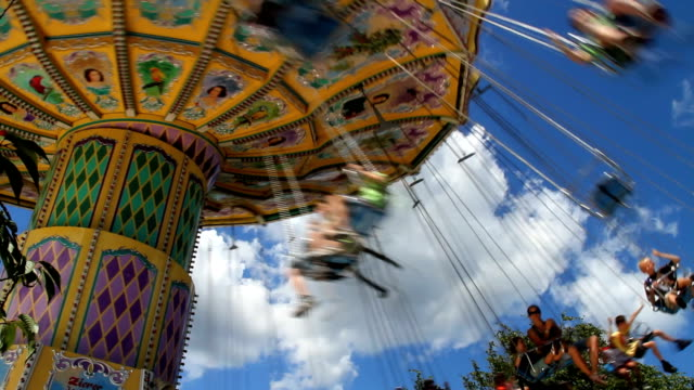 Swings Amusement Park Scene video