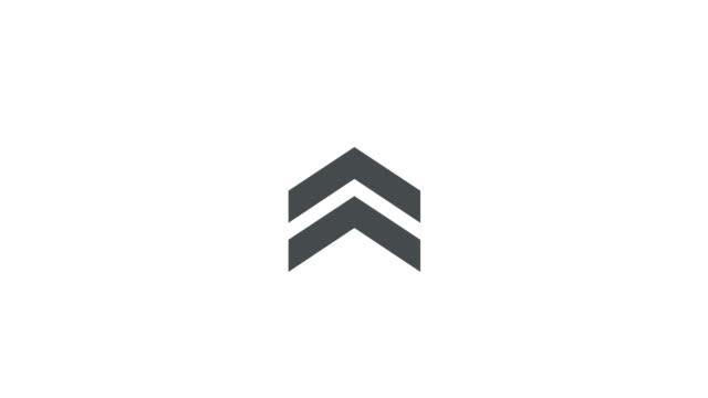 проведите вверх значок изолированы на белом фоне для истории дизайна. 4k видео - arrow стоковые видео и кадры b-roll