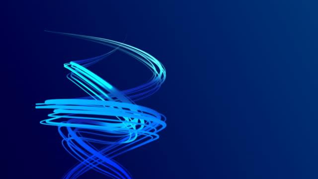 vídeos de stock e filmes b-roll de swirl lines with nice background - hélice formas geométricas