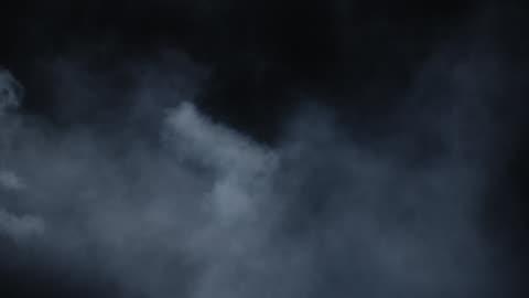 vídeos de stock e filmes b-roll de swirling atmospheric environment smoke - escuro