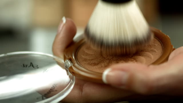 HD: Swirling Brush Into A Face Powder video