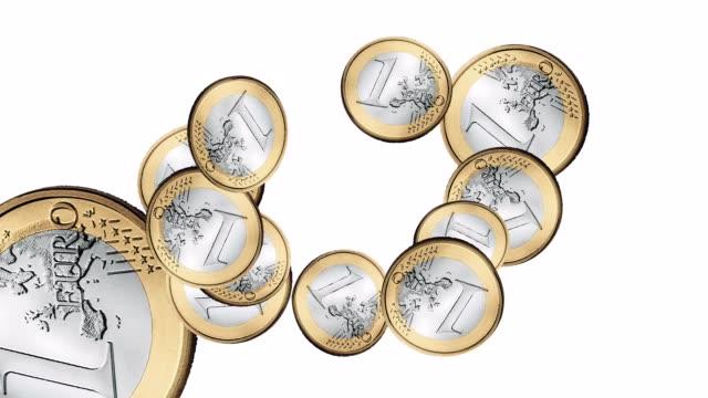 Swirling Euros Animation video