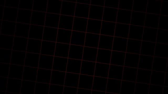 kırmızı neon hatları swirling-siyah arka plan - fayans stok videoları ve detay görüntü çekimi
