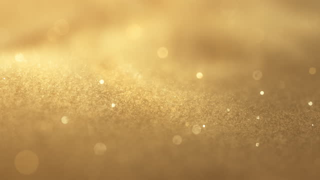 Swirly Particles - Gold Colored - Glitter, Loopable, Background Animation