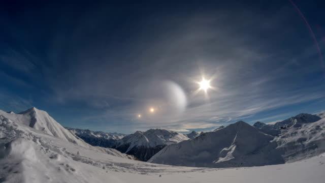 SWiss alpine mountain winter landscapes video