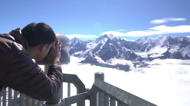 Swiss Alps through the POV video
