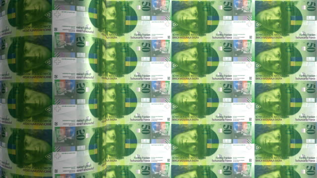 Swiss franc printing - animation video
