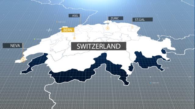 swiss map - szwajcaria filmów i materiałów b-roll