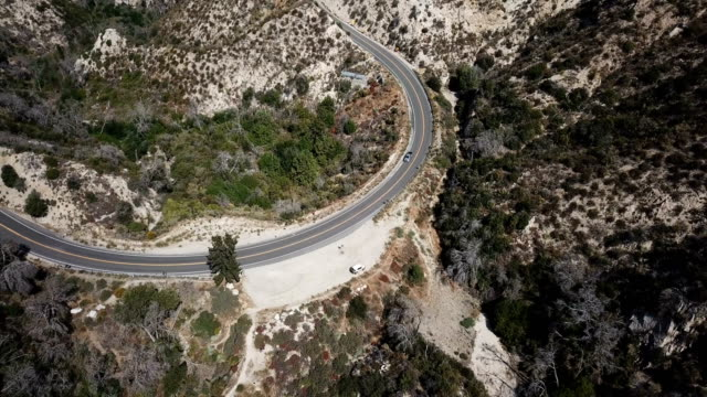 Switchback Road in California Wilderness video