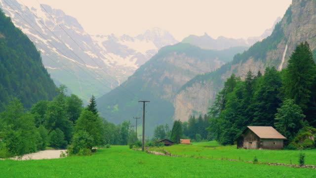Switzerland. Alpine landscape in Lauterbrunnen valley