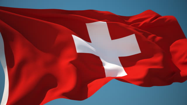 4K Switzerland Flag - Loopable video