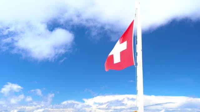 Switzerland national flag video