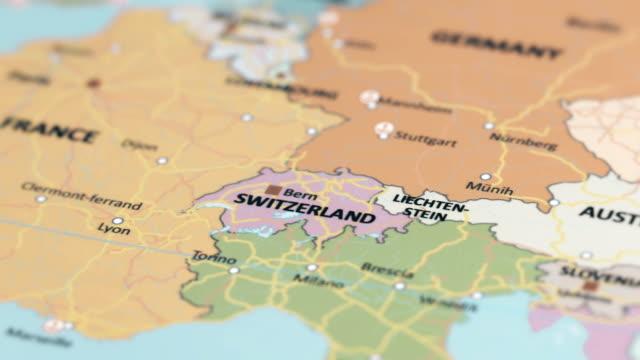 vidéos et rushes de europe suisse sur la carte du monde - carte france