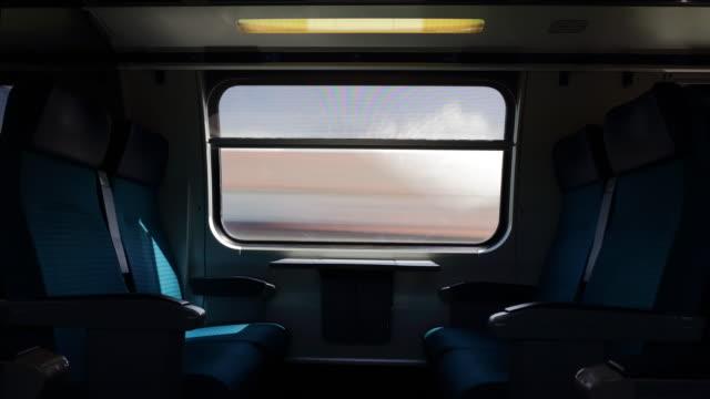 Suisse journée ensoleillée train trafic côté pov panorama 4k timelapse - Vidéo