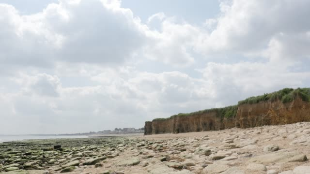 Sword beach allies landing area in WW2 northern France Normandy 4K