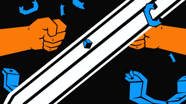 Sword Breaks Handcuffs Concept Animation video
