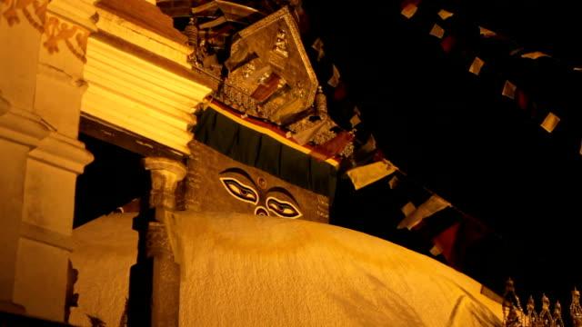 HD: Swyambhunath Temple at night. video