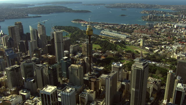 Sydney City Building Aerial video
