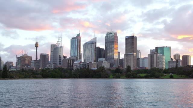 Sydney City view Dusk Hyperlapse