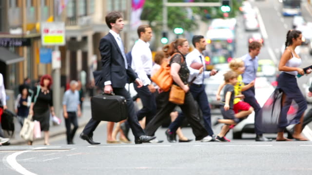 Sydney Crossing Crowds video