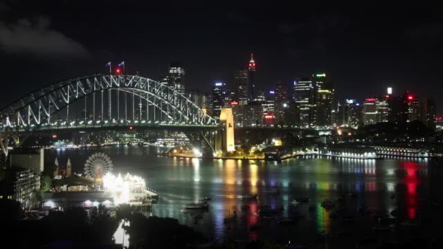 Sydney Habour at Night video