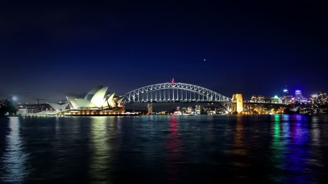 Sydney Harbor at Night video