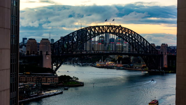 Sydney Harbour Bridge at Sunset video