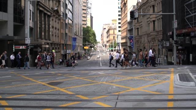 sydney light rail commences operation - tranvia video stock e b–roll