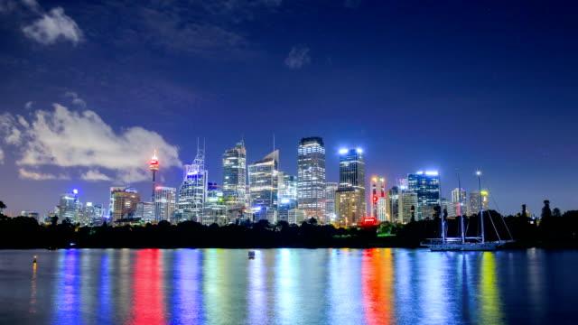 시드니, 뉴 사우스 웨일즈, 호주 스카이 라인 - 시드니 뉴사우스웨일스 스톡 비디오 및 b-롤 화면