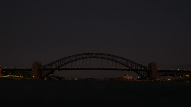 Sydney Opera House and Harbour Bridge Time Lapse Sunset 4k video