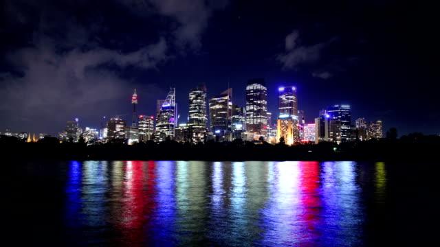 Sydney Skyline at Night video