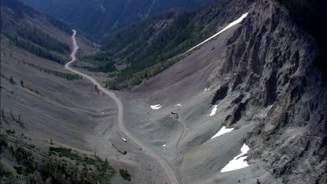 Sylvan Pass  - Aerial View - Wyoming,  Park County,  helicopter filming,  aerial video,  cineflex,  establishing shot,  United States video