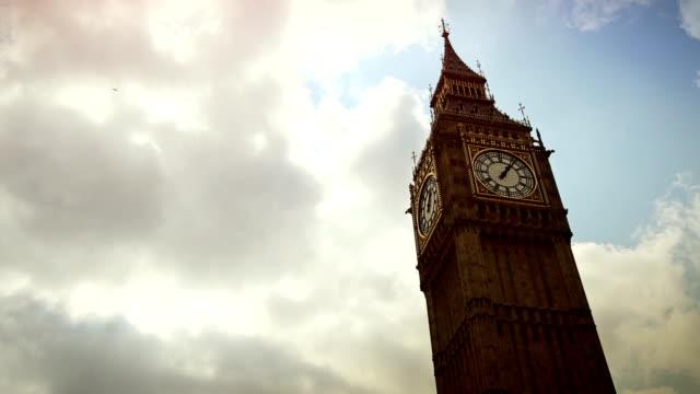 Symbol of London: the Big Ben timelapse video
