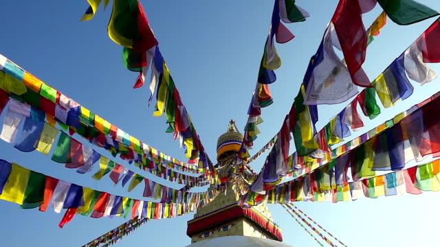シンボルのネパール、カトマンズ仏陀の目にします。 - ネパール点の映像素材/bロール