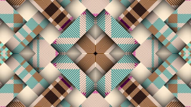 Symmetric abstract psychedelic loop background Symmetric abstract psychedelic pattern. Looping footage. plaid stock videos & royalty-free footage
