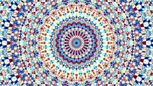 Symmetric ornament loop background Symmetric mosaic tile transforming ornament. Mosaic circles. Abstract footage in Art Nouveau style. Loop footage. mosaic stock videos & royalty-free footage