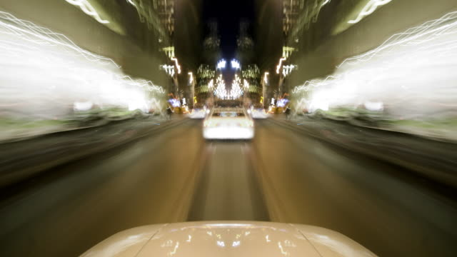 HD 1080 - symmetrical POV driving through city w/hood video