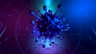 istock Synthetic virology. Artificial virus detail 1223479636