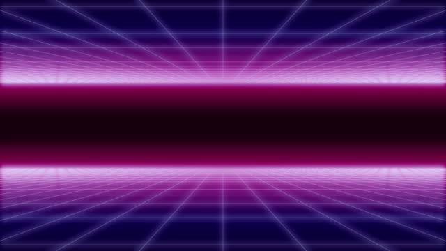 synthwave net and 2 sides horizontal Background 3d synthwave wireframe net top and bottom horizontal movement 80s Retro Futurism Background 3d illustration render seamless loop square composition stock videos & royalty-free footage