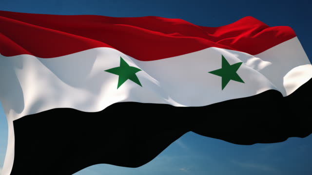 Royalty Free Syria Flag HD Video K Stock Footage BRoll IStock - Syria flag