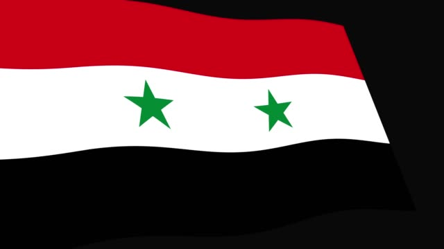 Syria flag slow waving in perspective, Animation 4K footage Syria flag slow waving in perspective, Animation 4K footage damascus stock videos & royalty-free footage