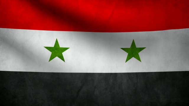 Syria flag. Syrian flag. damascus stock videos & royalty-free footage