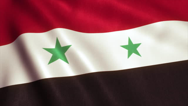 Syria Flag Video Loop - 4K Syrian Flag. Seamless Looping Animation. 4K High Definition Video damascus stock videos & royalty-free footage